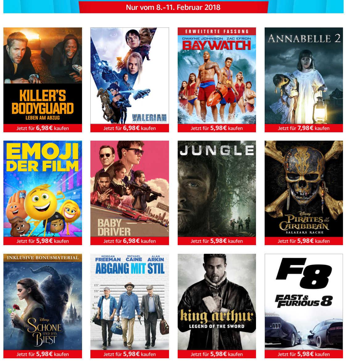 Amazon Prime Kunden Digital Kauf 12 Filme Ab 598 798