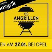 Angrillen bei Opel am 27.01.2018: Kostenlos Grillspezialitäten für die ganze Familie