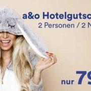 A&O Osterdeal 2018 - Hotelspecial für 79€ für 2 Nächte/2 Personen