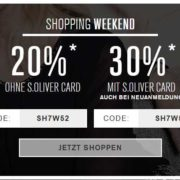 s.Oliver: 20% Rabatt auf alles, 30% für Kundenkarteninhaber