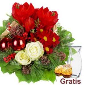 Blumenstrauß Weihnachten Mit Vase 2 Ferrero Rocher Für 1998