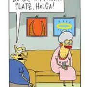 BMFSFJ: 6 Postkarten mit witzigen Cartoons / Karikaturen