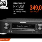 Cyberport - Marantz 5.2 AV Receiver (4K AirPlay WLAN Bluetooth Spotify Heos) für nur 349€ inkl. Versand (statt 479€)