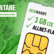 """""""Der Spontane"""" Tarif mit 3 GB LTE + 7,99€ pro Monat + 0€ Anschlusspreis"""