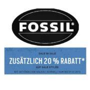 Fossil: Sale mit bis zu 50% Rabatt + 20% Extra-Rabatt