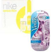 Für LADIES: Gillette Venus Breeze Damenrasierer + Nike Woman Duftset für 9,90€