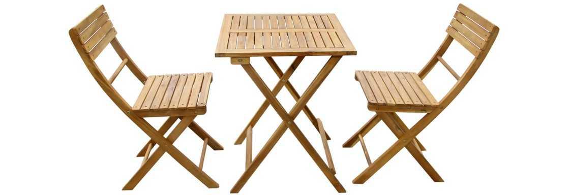 Gartenset Akazie Bei XXXL Tisch 2 Stühle