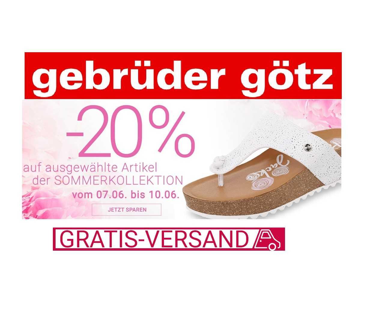 the latest 279e4 b84f5 Gebrüder Götz Schuhe: 20% Rabatt auf ausgewählte ...