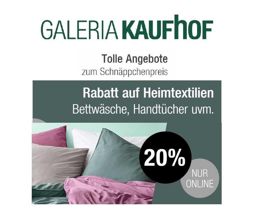 Heute Bei Galeria Kaufhof 20 Rabatt Auf Heimtextilien Un