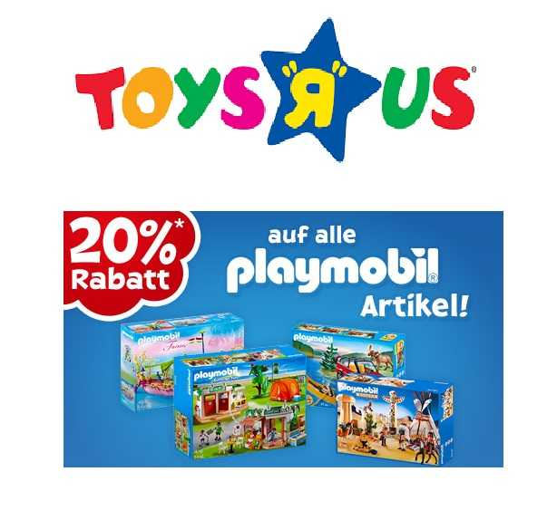 heute bei toys r us 20 rabatt auf alle playmobil artikel. Black Bedroom Furniture Sets. Home Design Ideas