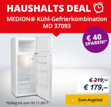 k hl gefrierkombination md 37093 mit 166l k hlteil 41l gefrierteil energieeffizienzklasse a. Black Bedroom Furniture Sets. Home Design Ideas