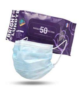 50 Stück Einweg-Gesichtsmasken / Mundschutz