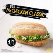 McChicken bei McDonalds ab 30.03 für 1,99€