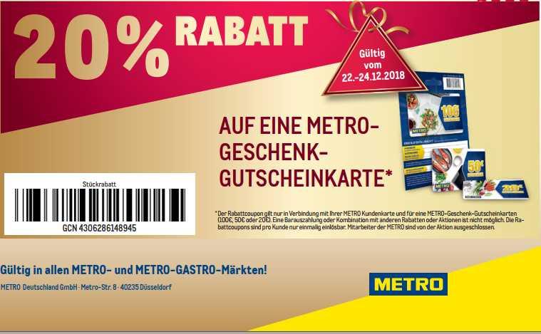 metro gutschein 50 euro
