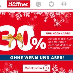 Möbel Höffner, 30% Möbel, Matratzen und Küchen | MonsterDealz.de