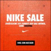*TOP* Nike: 25% extra Rabatt auf Sale Artikel - nur 48 Stunden !