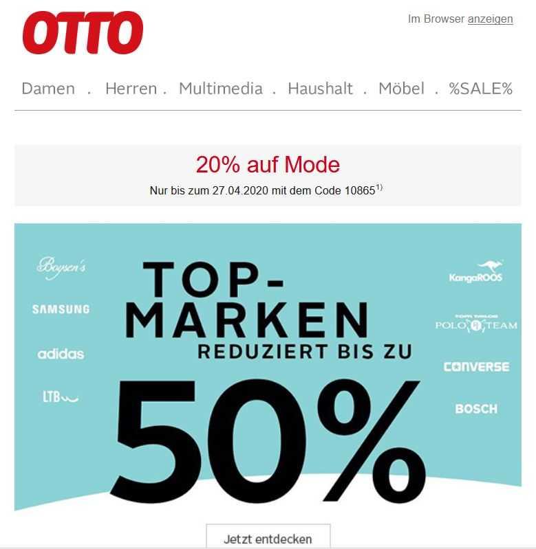 Otto 20 Auf Mode