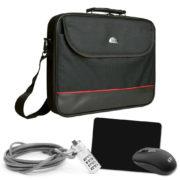 """PEDEA Starter Kit """"Trendline"""" aus Notebook Tasche 17,3 Zoll Funkmaus, Mauspad, Notebookschloss, schwarz nur 23,89 statt 27,90 bis 13UHR"""