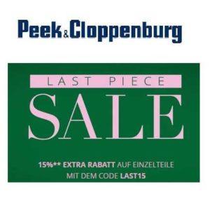 0383d12e269dc5 Peek   Cloppenburg the last Piece Sale  15% Extra-Rabatt auf ausgewählte  Einzelteile!