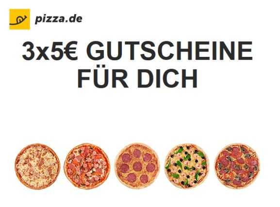 pizza.de gutschein code