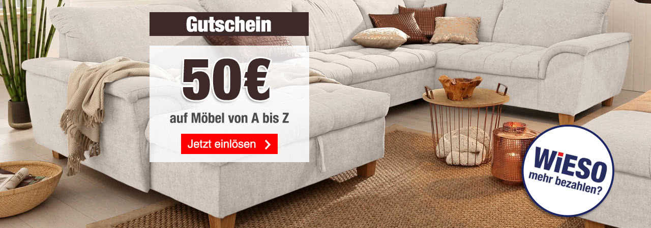 quelle 50 gutschein auf m bel ab 300 bestellwert. Black Bedroom Furniture Sets. Home Design Ideas