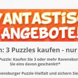 ravantastisch 3 puzzles kaufen nur 2 bezahlen. Black Bedroom Furniture Sets. Home Design Ideas
