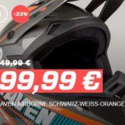 Raven Airborn Motocross Helm 4 verschiedenen Farben