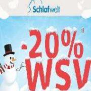 Winterschlussverkauf bei Schlafwelt - 20% auf (fast) Alles