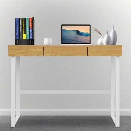 schreibtisch mit schublade f r 42 99. Black Bedroom Furniture Sets. Home Design Ideas