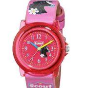 SCOUT Uhren Mädchen-Armbanduhr in rosa