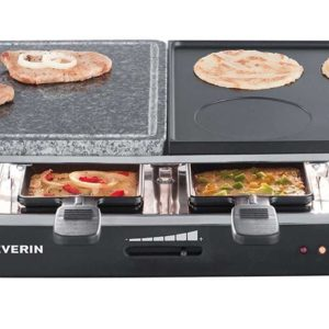 severin rg 2341 raclette partygrill mit naturgrillstein. Black Bedroom Furniture Sets. Home Design Ideas