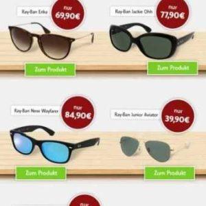 dd798a53a51654 Sonnenbrillen & Kontaktlinsen im Angebot: Ray-Ban / Solocare / SofLens /  Kombilösung