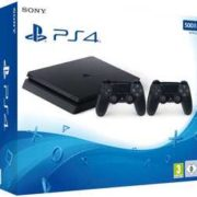 SONY PlayStation 4 Slim 500GB + 2. DualShock 4 Controller für 222€