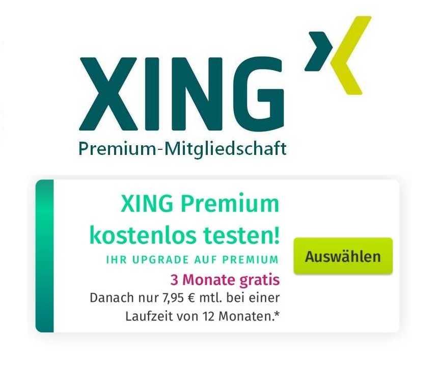 XING Premium: Jetzt 3 Monate kostenlos - Neu- und