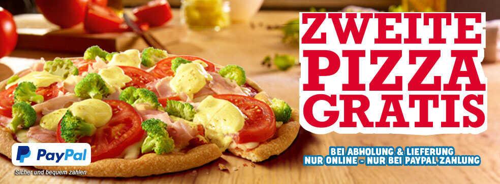 zweite pizza gratis bei dominos bei abholung oder lieferung paypal. Black Bedroom Furniture Sets. Home Design Ideas